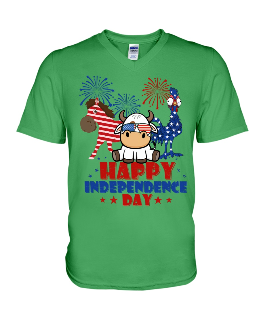 Happy Independence Day  V-Neck T-Shirt