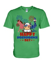 Happy Independence Day  V-Neck T-Shirt front