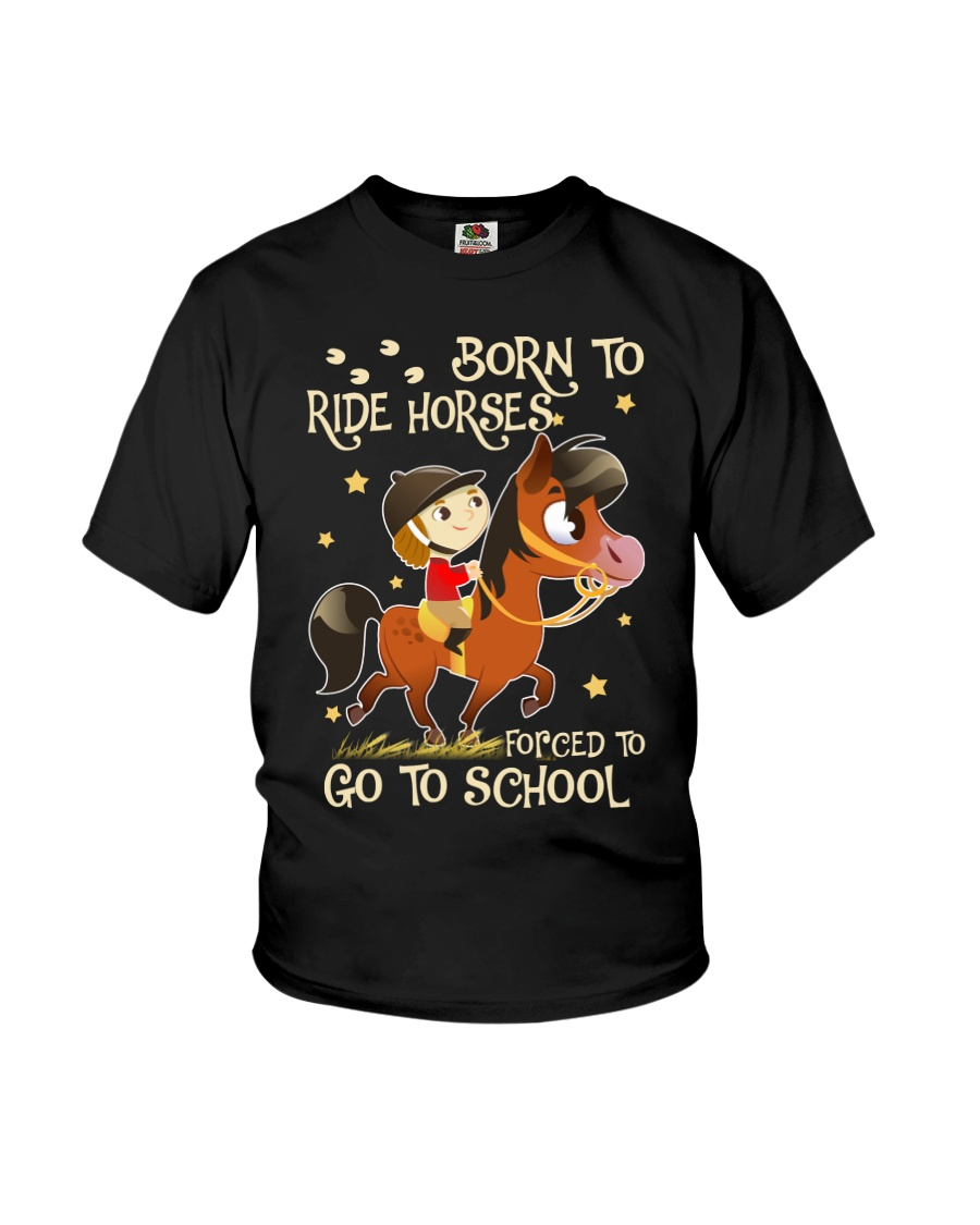 Born To Ride Horses Youth T-Shirt