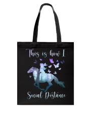 This Is How I Social Distance Tote Bag thumbnail