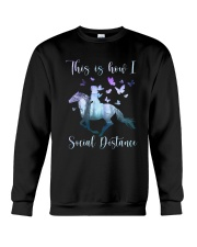This Is How I Social Distance Crewneck Sweatshirt thumbnail