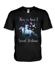 This Is How I Social Distance V-Neck T-Shirt thumbnail
