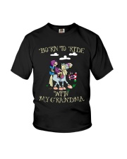 Born To Ride With My Grandma Youth T-Shirt front