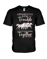 When We Ride Together  V-Neck T-Shirt thumbnail