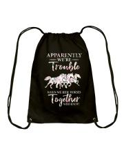 When We Ride Together  Drawstring Bag thumbnail