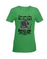 Horses And Tattoos Ladies T-Shirt women-premium-crewneck-shirt-front