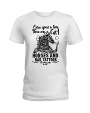Horses And Tattoos Ladies T-Shirt thumbnail