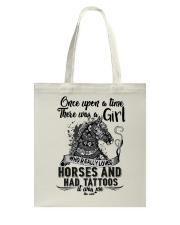 Horses And Tattoos Tote Bag thumbnail