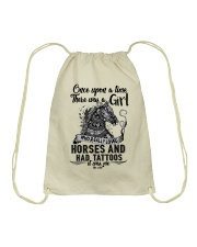 Horses And Tattoos Drawstring Bag tile