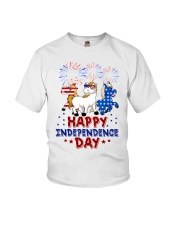 Happy Independence Day  Youth T-Shirt front