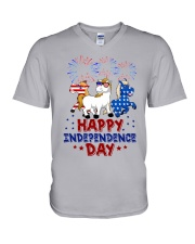 Happy Independence Day  V-Neck T-Shirt thumbnail
