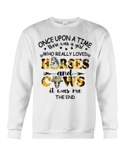 Horses And Cows Crewneck Sweatshirt thumbnail