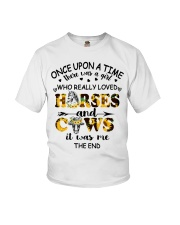Horses And Cows Youth T-Shirt front