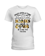 Horses And Cows Ladies T-Shirt thumbnail
