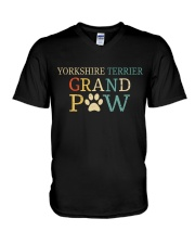 Yorkshire Terrier Grandpaw V-Neck T-Shirt thumbnail