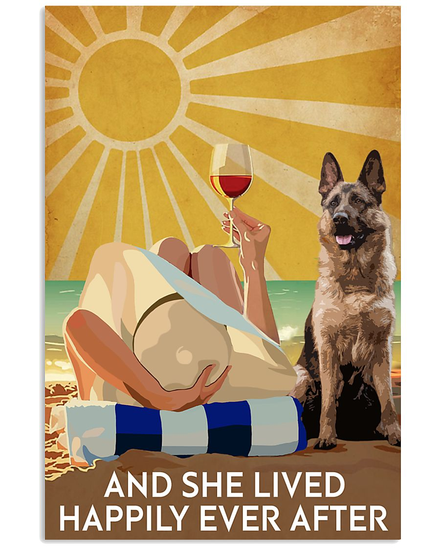 German Shepherd And She Lived Happily Ever After 11x17 Poster