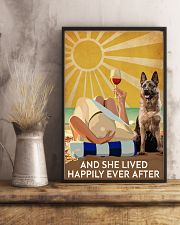 German Shepherd And She Lived Happily Ever After 11x17 Poster lifestyle-poster-3