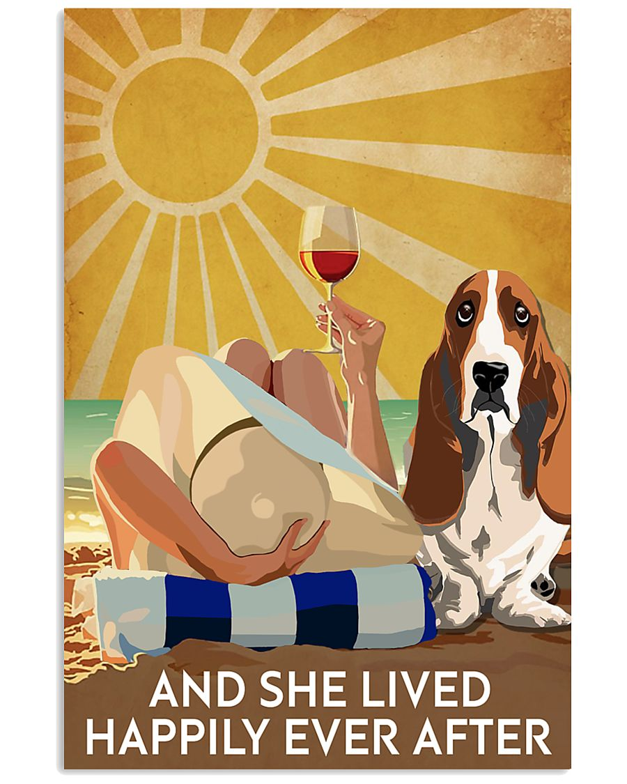 Basset Hound And She Lived Happily Ever After 11x17 Poster