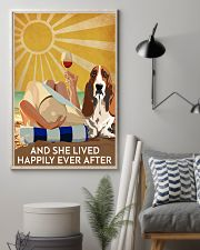 Basset Hound And She Lived Happily Ever After 11x17 Poster lifestyle-poster-1