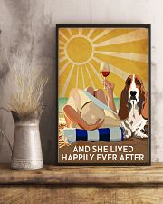 Basset Hound And She Lived Happily Ever After 11x17 Poster lifestyle-poster-3