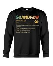 Grandpaw Someone who works hard so his dogs Crewneck Sweatshirt thumbnail