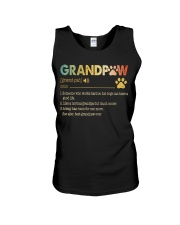 Grandpaw Someone who works hard so his dogs Unisex Tank thumbnail
