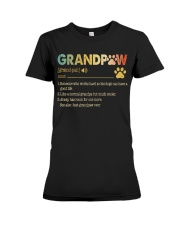Grandpaw Someone who works hard so his dogs Premium Fit Ladies Tee thumbnail