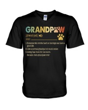 Grandpaw Someone who works hard so his dogs V-Neck T-Shirt thumbnail
