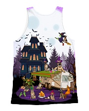 German Shepherd - Halloween - Camping All-over Unisex Tank back