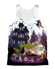 German Shepherd - Halloween - Camping All-over Unisex Tank thumbnail