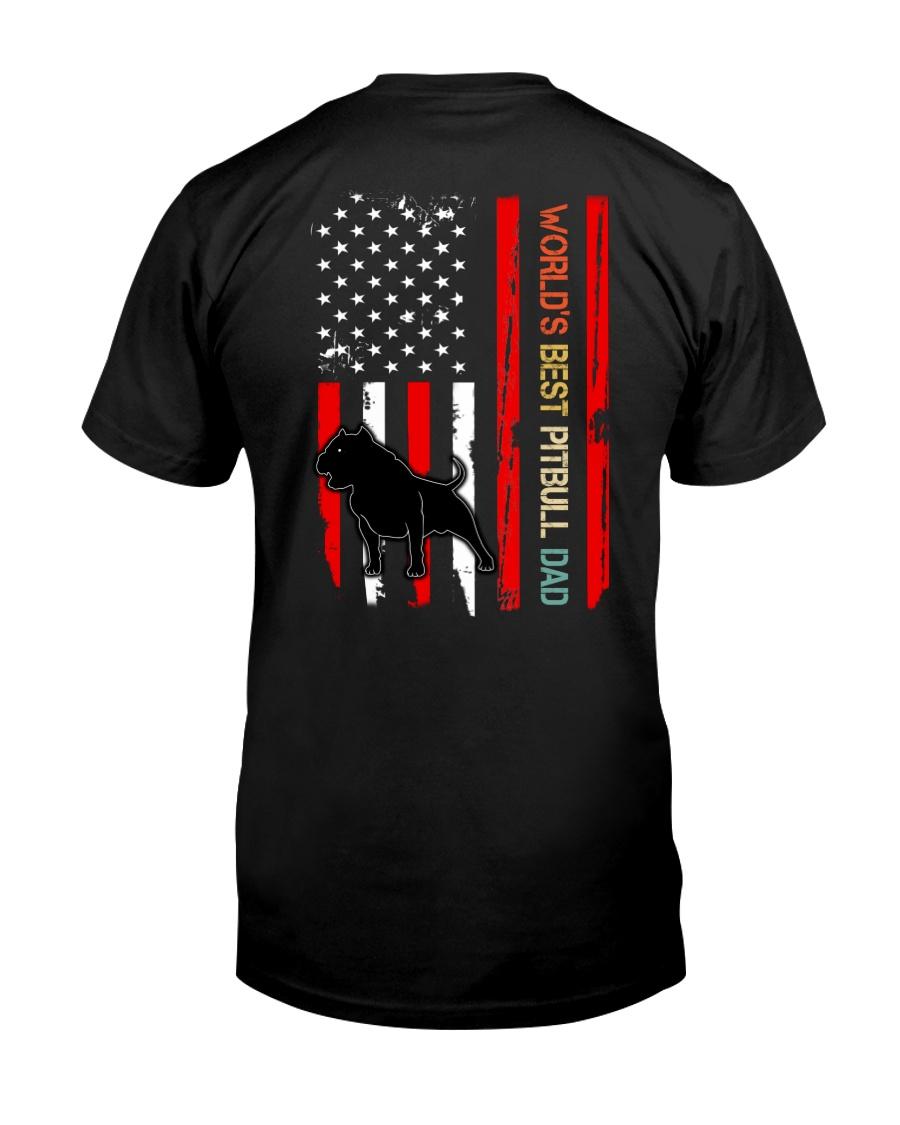 Vintage World's Best Pitbull Dad Flag Classic T-Shirt