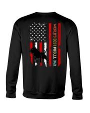 Vintage World's Best Pitbull Dad Flag Crewneck Sweatshirt thumbnail