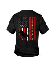 Vintage World's Best Pitbull Dad Flag Youth T-Shirt thumbnail