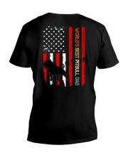 Vintage World's Best Pitbull Dad Flag V-Neck T-Shirt thumbnail