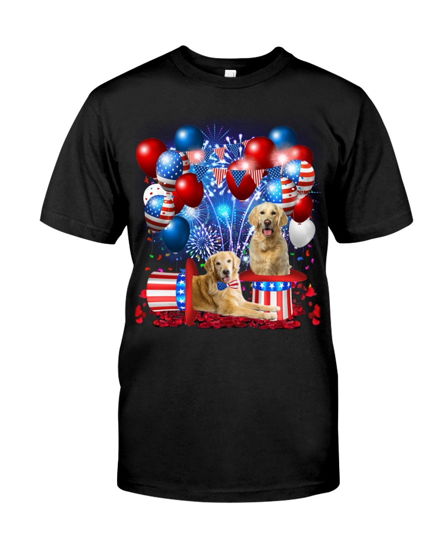 Golden Retriever  Independence Vr2 Classic T-Shirt