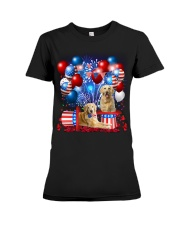 Golden Retriever  Independence Vr2 Premium Fit Ladies Tee thumbnail