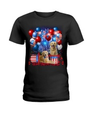 Golden Retriever  Independence Vr2 Ladies T-Shirt thumbnail