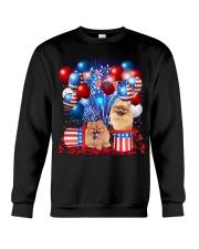 Pomeranian Independence  Vr2 Crewneck Sweatshirt thumbnail