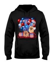Pomeranian Independence  Vr2 Hooded Sweatshirt thumbnail