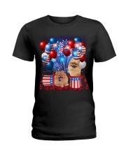 Pomeranian Independence  Vr2 Ladies T-Shirt thumbnail