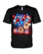Pomeranian Independence  Vr2 V-Neck T-Shirt thumbnail
