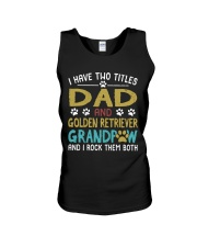 Golden Retriever I Have Two Titles Dad And Dog Unisex Tank thumbnail