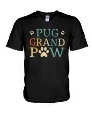 Pug Grandpaw V-Neck T-Shirt thumbnail