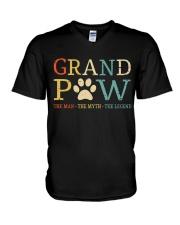 Grand Paw The Man The Myth The Legend V-Neck T-Shirt thumbnail