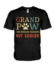 Grand Paw Like Regular Grandpa But Cooler V-Neck T-Shirt thumbnail