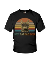 Best Cat Dad Ever Youth T-Shirt thumbnail