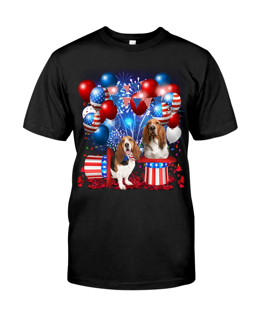 Basset Hound  Independence Vr2 Classic T-Shirt
