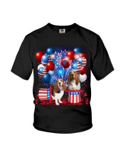 Basset Hound  Independence Vr2 Youth T-Shirt thumbnail
