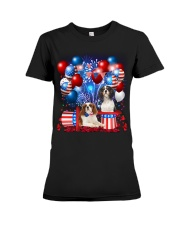 Cavalier King Charles Spaniel  Independence Vr2 Premium Fit Ladies Tee thumbnail