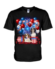 Cavalier King Charles Spaniel  Independence Vr2 V-Neck T-Shirt thumbnail